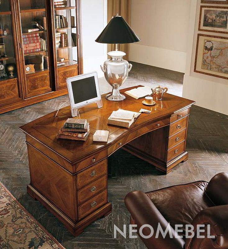 Письменный стол и книжный шкаф из коллекции verona.